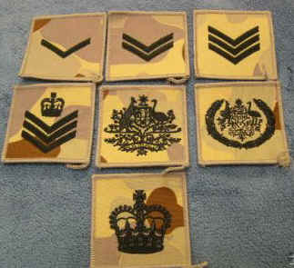 Badges Of Rank Australian Navy Army Air Force