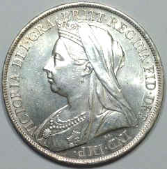 Obverse of 1899 Victoria Old Head Crown